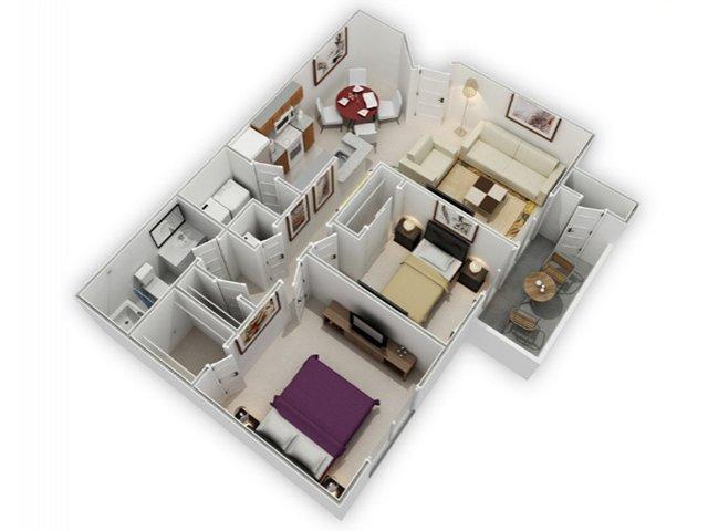Two Bedroom Apartments in Richmond | Bella Vista at Hilltop