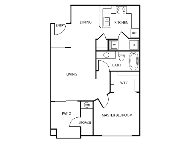 Floor Plan A   Apartments in Las Vegas, NV   The Clubs at Rhodes Ranch