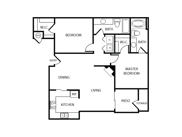 Floor Plan B   Apartments in Las Vegas, NV   The Clubs at Rhodes Ranch