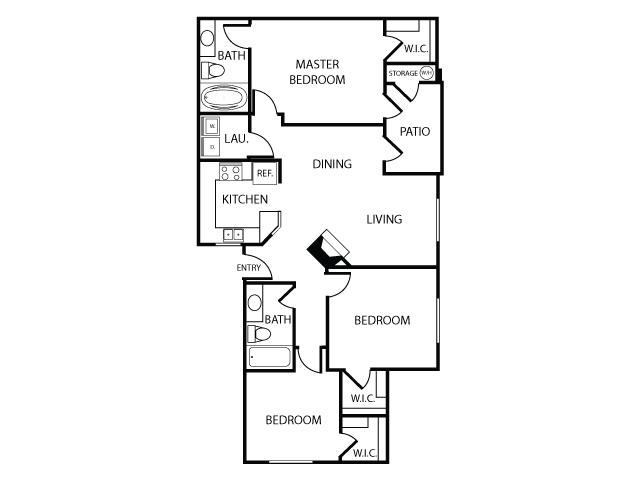 Floor Plan C   Apartments in Las Vegas, NV   The Clubs at Rhodes Ranch