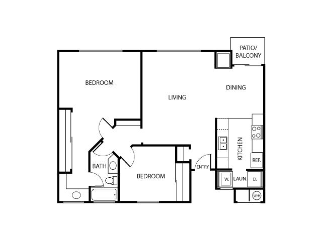Coronado Floor Plan | Serrano Highlands Apartments | Apartments in Lake Forest