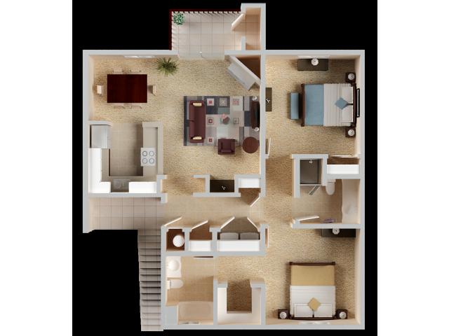 Two bedroom Apartments in El Dorado Hills | Sterling Ranch