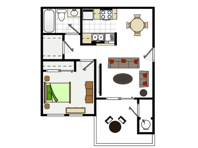 One Bedroom Apartments in Vallejo, CA l Seabreeze Apartments