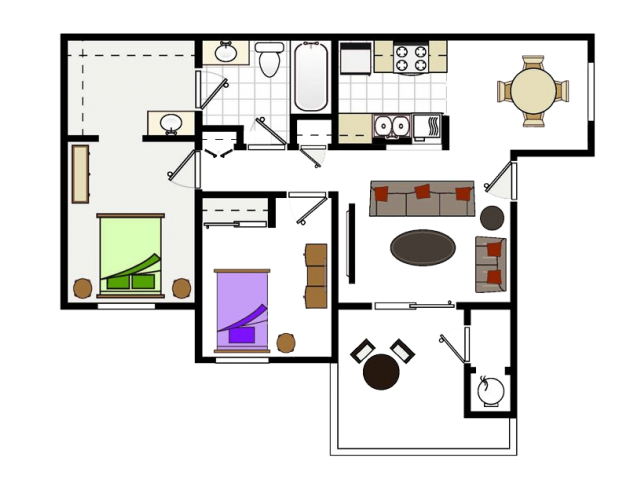Two Bedroom Apartments in Vallejo, CA l Seabreeze Apartments