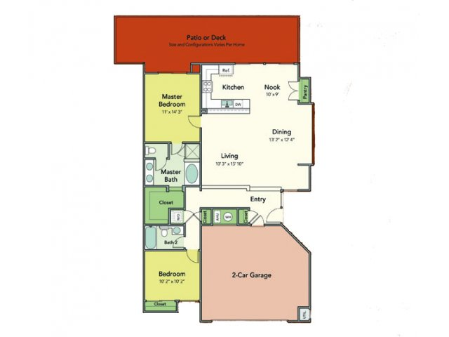 Two Bedroom Apartments in Napa, Ca l Towpath Village