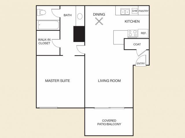 Rosa Floor Plan A | Apartments in Cypress, CA | Casa Grande Apartment Homes