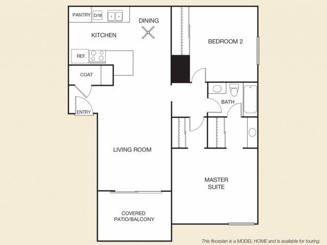 Margarita Floor Plan B | Apartments in Cypress, CA | Casa Grande Apartment Homes
