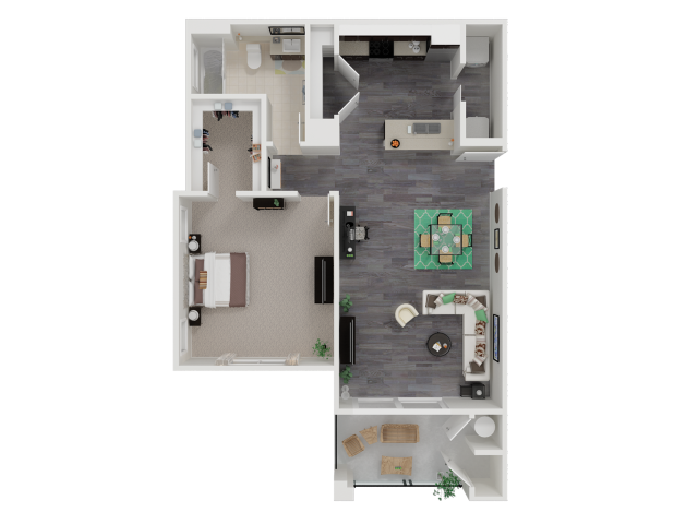 One Bedroom One Bath Apartments in Roseville