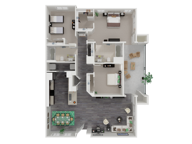 Three Bedroom Two Bath Apartments in Roseville