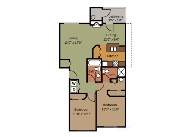 Two Bedroom Apartments in Fife Washington near Tacoma and Federal Way