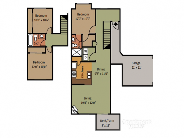 Three Bedroom Apartments in Fife Washington near Tacoma and Federal Way