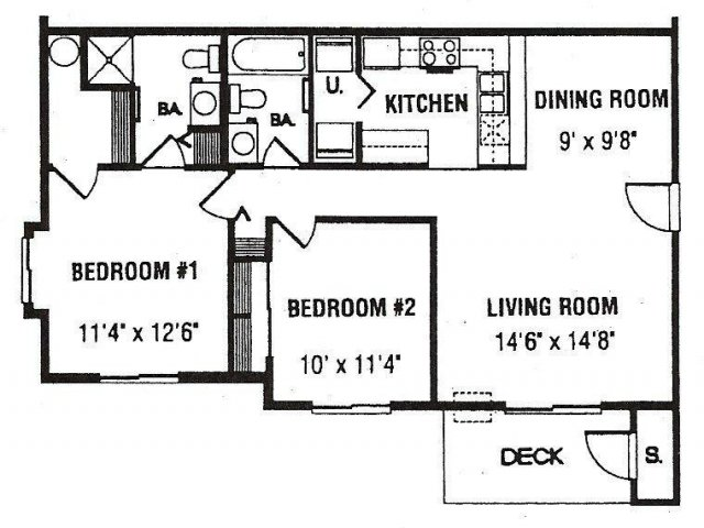 Three Bedroom Apartments For Rent at Montgomery Court Apartments in Spokane WA
