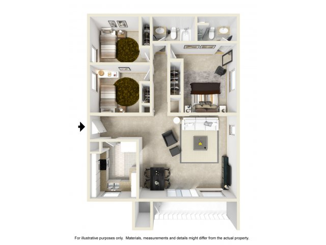 Three Bedroom Apartments for rent in Ontario, CA l Mountain Summit Apartment Homes