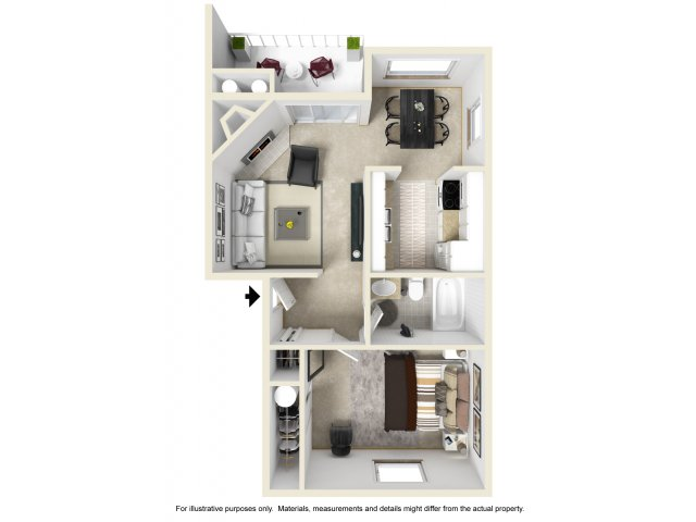One Bedroom Apartments in Federal Way, WA | Club Palisades
