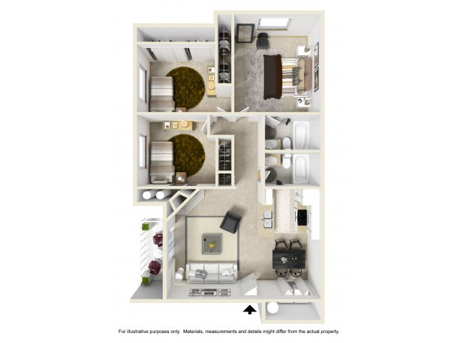 Three Bedroom Apartments in Federal Way, WA | Club Palisades