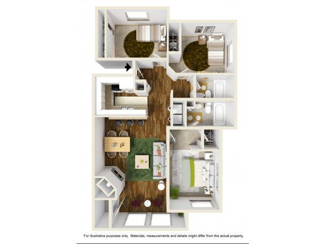 Three Bedroom Apartments in Kent, WA | Indigo Springs