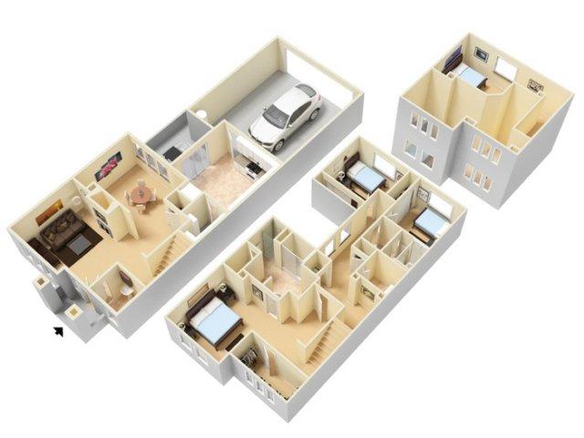 Three Bedroom Apartments for rent Sparks NVl Caviata at Kiley Ranch Apartments