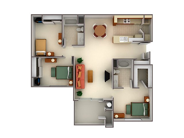 Two Bedroom Apartments in Elk Grove, CA | Lake Point Apartments