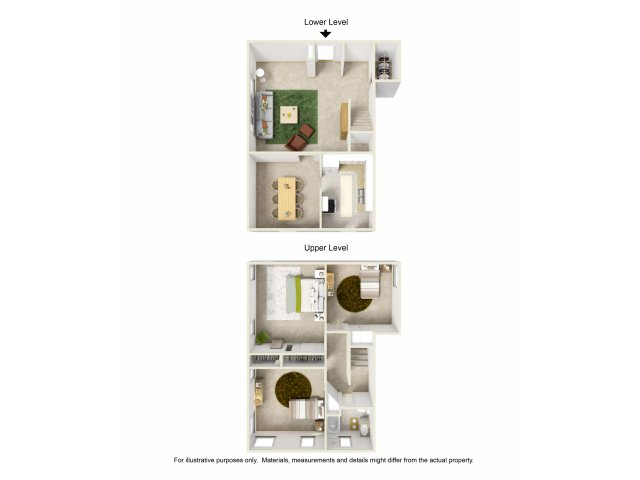 Amazing For The 3 Bed / 1 Bath Townhouse Floor Plan.