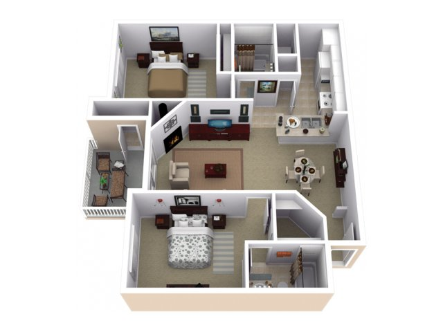 2 Bedroom Floor Plan | Slate Creek at Johnson Ranch 2