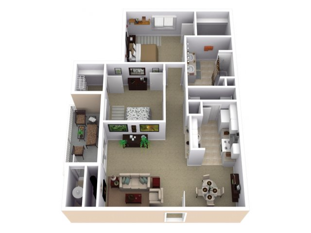 2 Bedroom Floor Plan | Slate Creek at Johnson Ranch 3