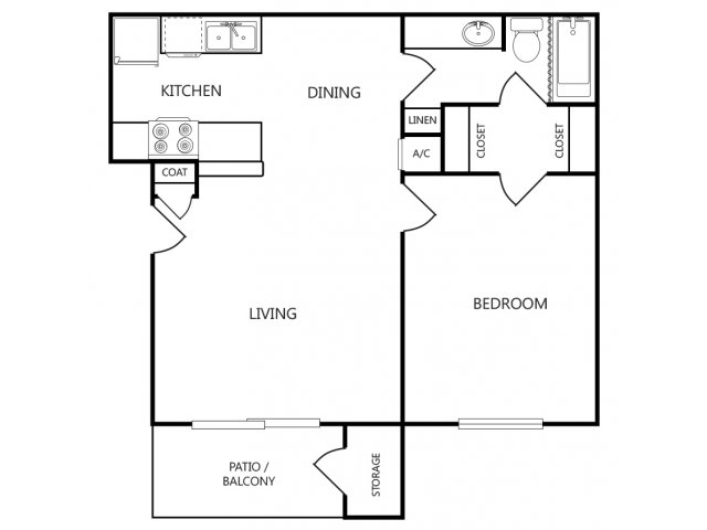 One Bedroom Apartmentns For Rent in Tyler, Texas l Arbors on Chimney Rock Apartments