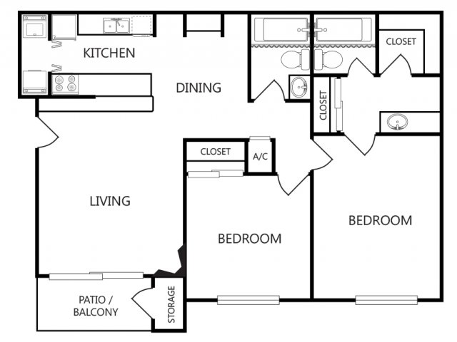 Two Bedroom Apartmentns For Rent in Tyler, Texas l Arbors on Chimney Rock Apartments