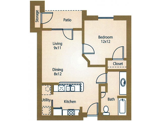 One Bedroom Apartments For Rent in Waco, Texasl Luxe at 1300