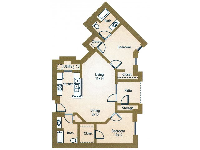 Two Bedroom Apartments For Rent in Waco, Texasl Luxe at 1300