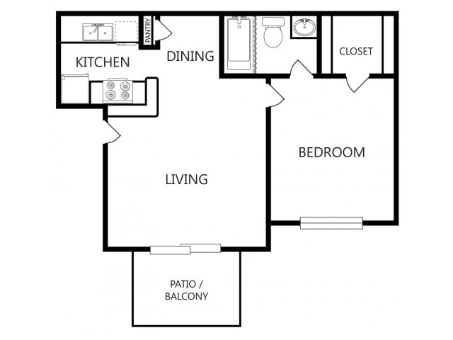 One Bedroom Apartments For Rent In Longview, Texas Apartments
