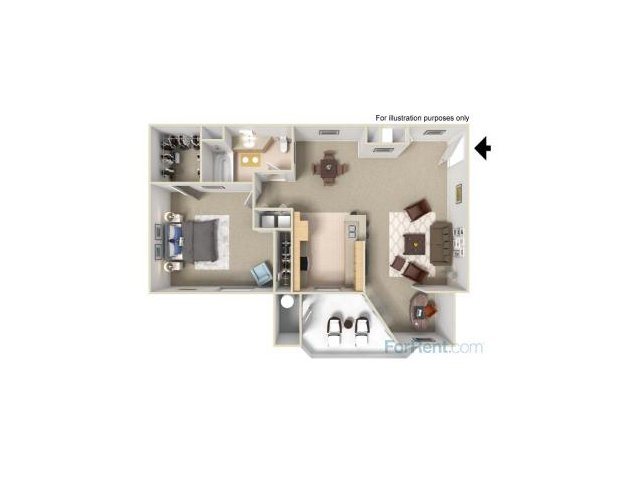 One Bedroom Apartments for rent in Fairfield Apartments l Park Crossing