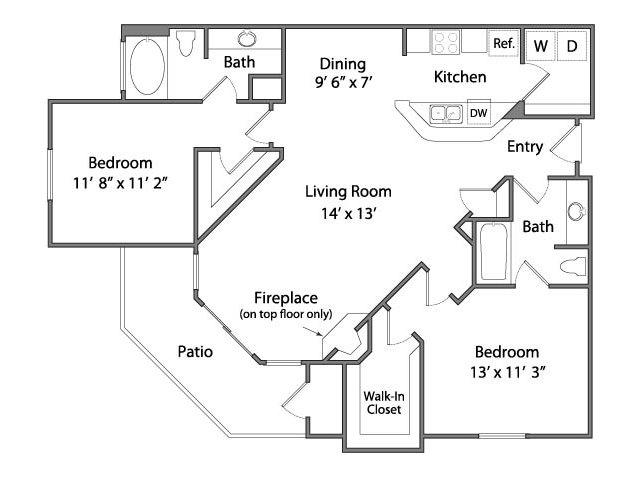 Two Bedroom Apartments in Rancho Cordova, CA l Oakbrook Apartments