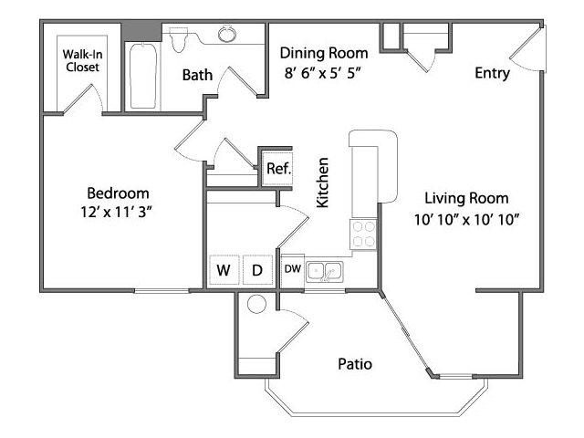 One Bedroom Apartments in Rancho Cordova, CA l Oakbrook Apartments