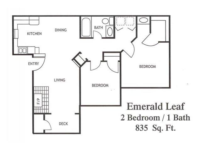 Two Bedroom Apartments in Modesto, CA l Maple Ridge Apartments
