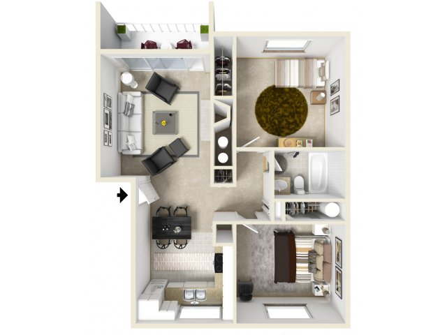 Two Bedroom Apartments in Federal Way, WA | Club Palisades