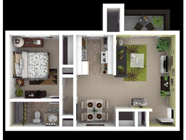 1x1 Sacramento Apartments for Rent l The Palms
