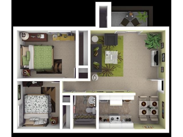 2x1 Sacramento Apartments for Rent l The Palms