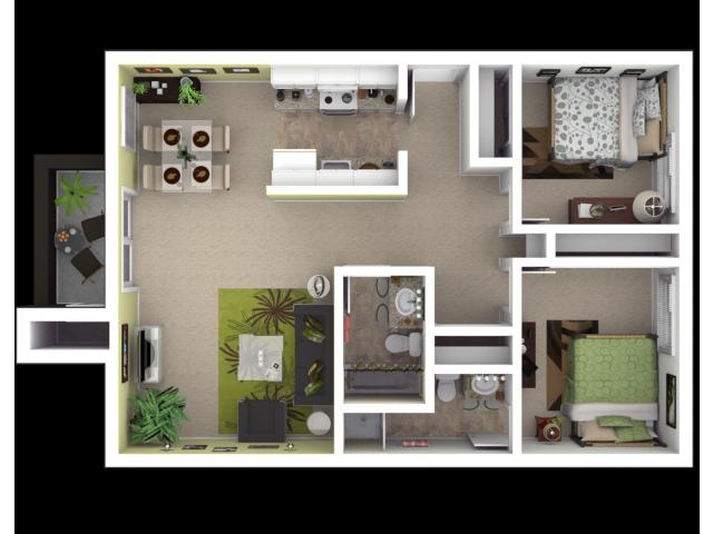 2x2 Sacramento Apartments for Rent l The Palms