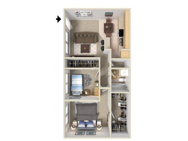 Two Bedroom Apartments in Davis CA   J Street Apartments