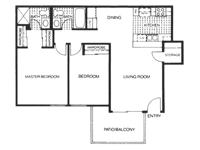 Skyline Apartments for rent l 2x2 rentals in Spring Valley, CA
