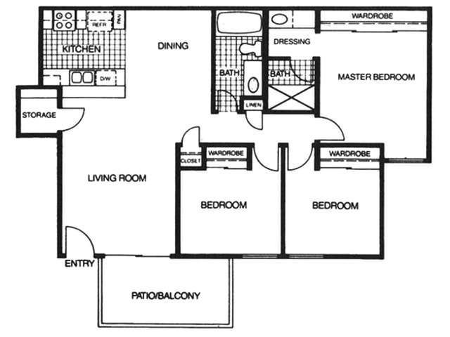 3 bedroom rentals in Spring Valley at Skyline Apartments