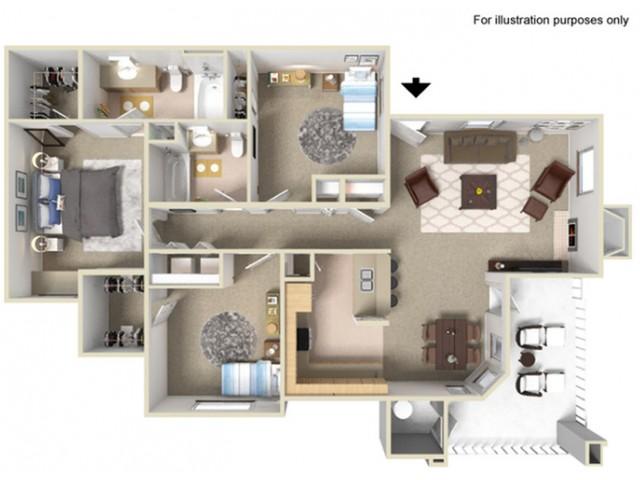 Three Bedroom Apartments For Rent in Elk Grove, CA l Siena Villas
