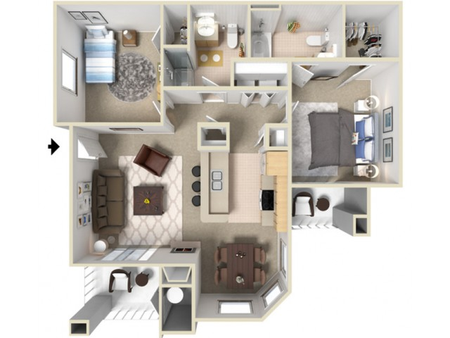 Two Bedroom Apartments For Rent in Elk Grove, CA l Siena Villas