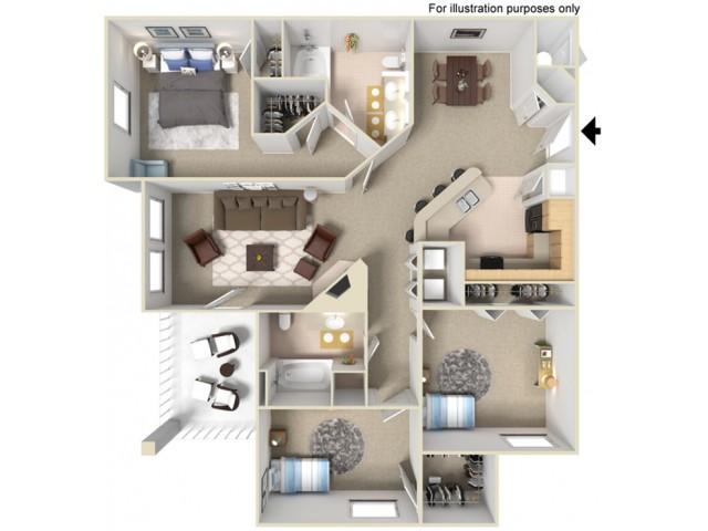 Three bedroom apartments for Rent in Rancho Cordova, CA l Ashgrove Place