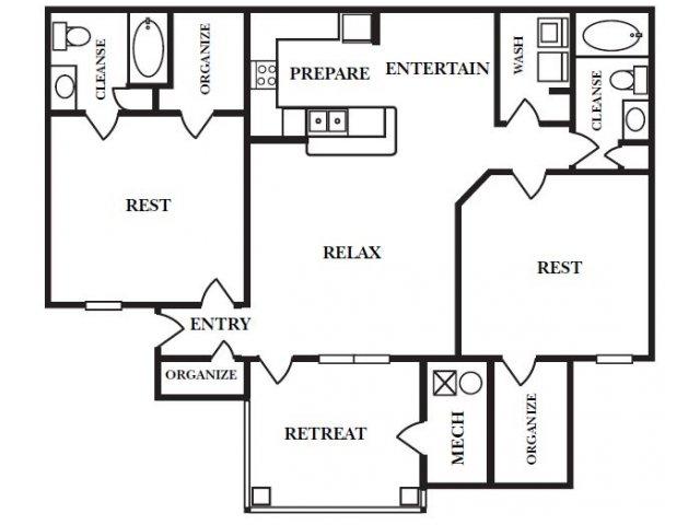 Peachtree Square Apartments Floor Plans: 2 Bed / 2 Bath Apartment In Cumming GA