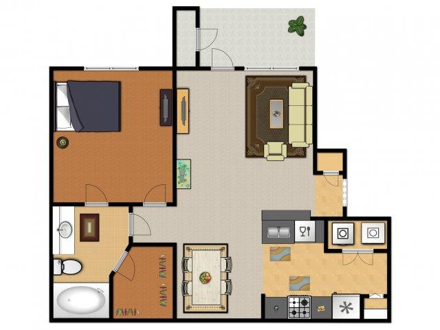 1 Bed / 1 Bath Apartment in San Antonio TX | Hidden Lake ...