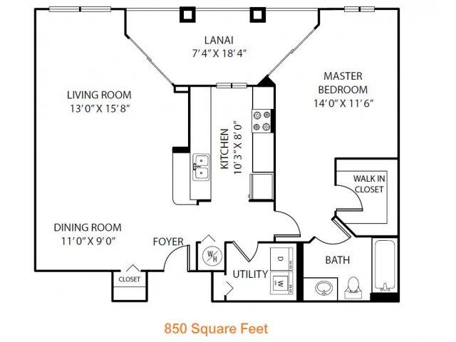 1 Bed / 1 Bath Apartment in Orlando FL | Heritage on Millenia ...