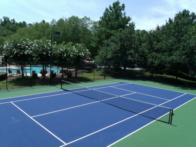 Image of Lighted Tennis Court for River Vista Apartment Homes