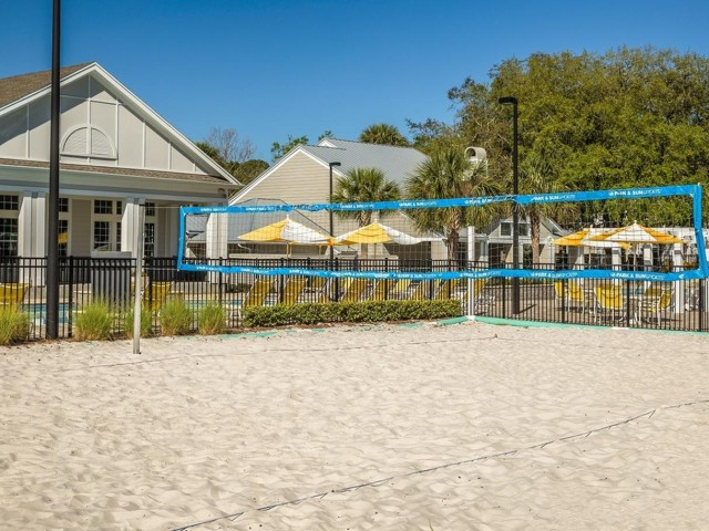 The Glenn-Exterior | Sand Volleyball Court