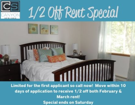 3x2 special ends on Saturday.<br><br>Corner home with a full-size w/d, extra large kitchen, walk-in closets & more!